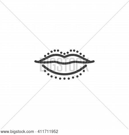 Lips Surgery Line Icon. Linear Style Sign For Mobile Concept And Web Design. Lip Augmentation Outlin