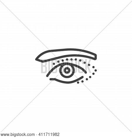 Eyelid Surgery Line Icon. Linear Style Sign For Mobile Concept And Web Design. Eye Plastic Surgery O