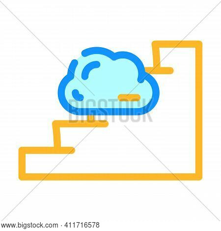 Stairway To Heaven Color Icon Vector Illustration