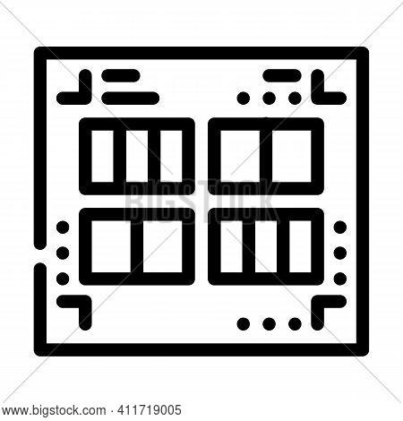 Prefabricated Printing Catalogs Line Icon Vector Illustration