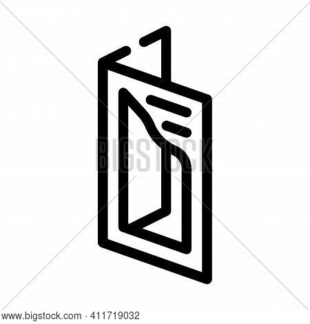 Cutout Booklet Line Icon Vector Illustration Line