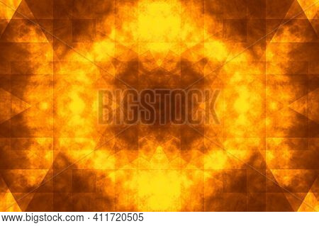 Shining Golden Mosaic Background. Texture Of Scratch, Dust. Black Marbel Natural Pattern For Backgro