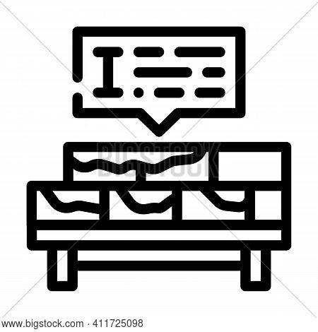 Brickwork Courses Line Icon Vector Illustration Line
