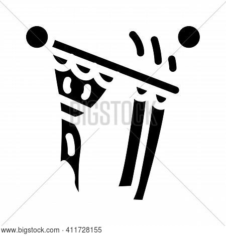 Husband For Hour Installating Cornices Glyph Icon Vector Illustration