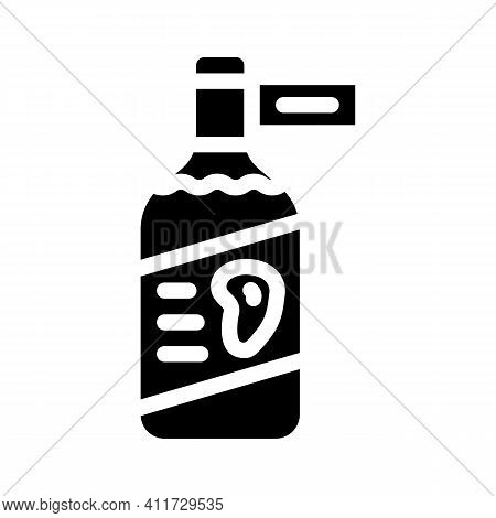Vinegar Mango Glyph Icon Vector Illustration Sign