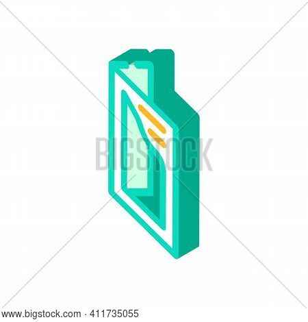 Cutout Booklet Isometric Icon Vector Illustration Sign