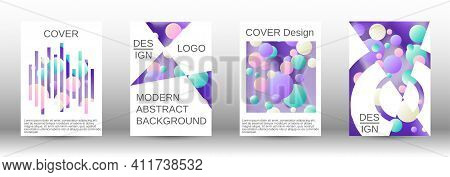 Future Futuristic Template With Abstract Balls For Design.