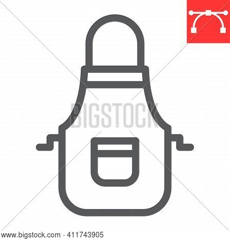 Apron Line Icon, Cook And Culinary, Kitchen Apron Vector Icon, Vector Graphics, Editable Stroke Outl