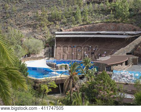 San Bartolome De Tirajana, Gran Canaria, Canary Islands, Spain December 18, 2020: The Terraces Of Do
