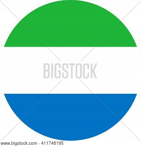 Sierra Leone Round Flag Icon. Business Concepts, Travel Signs And Symbols.