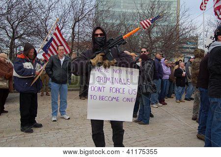 SECOND AMENDMENT GUN APPRECIATION RALLY IN BUFFALO,NY USA, JANUARY 19, 2013