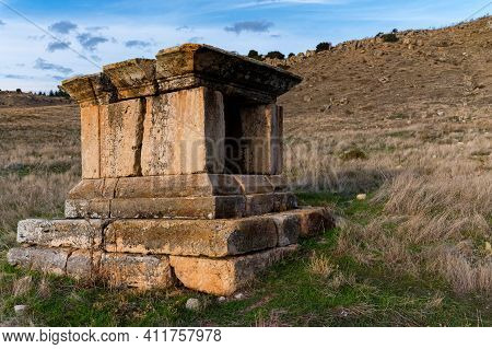Ruins Of The Ancient City Of Hierapolis Nothern Necropolis In Turkey