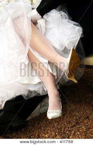 Crossed Bridal Legs
