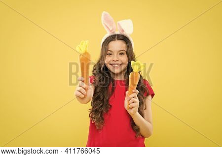Play With Food. Spring Tradition. Playful Child Yellow Background. Holy Week Activities. Healthy Foo