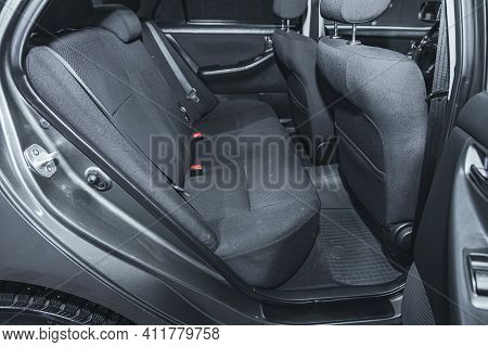 Novosibirsk, Russia - March 2 2021: Toyota Corolla,comfort Car Inside. Clean Car Interior: Black Bac
