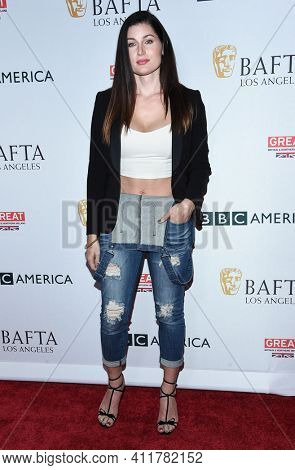 LOS ANGELES - SEP 16:  Trace Lysette arrives for  BAFTA TV Tea Party 2017 on September 16, 2017 in Beverly Hills, CA