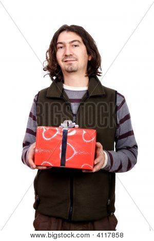 Couple Giving A Present