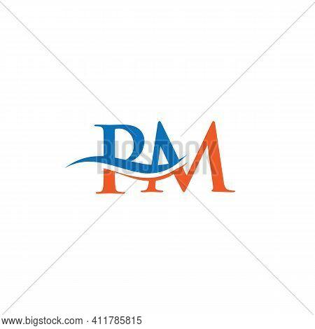 Monogram Letter Pm Logo Design Vector. Pm Letter Logo Design With Modern Trendy. Pm Logo