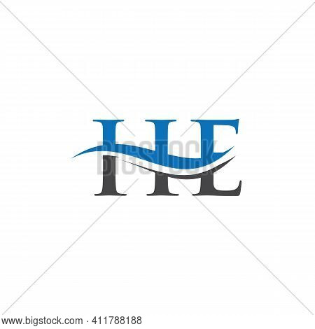 Creative He Letter With Luxury Concept. Modern He Logo Design For Business And Company Identity.