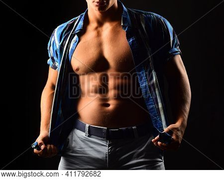 Bare Torso. Naked Man. Nude Male Abs. Sexy Muscular Guy Gay. Topless Muscular Fitnes Body