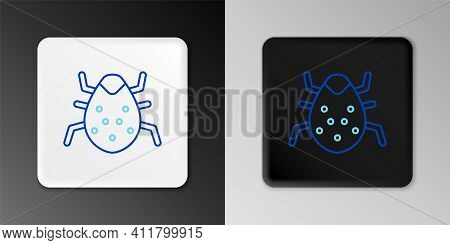 Line System Bug Concept Icon Isolated On Grey Background. Code Bug Concept. Bug In The System. Bug S