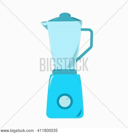 Image Of A Kitchen Stationary Blender. Icon Isolated On A White Background