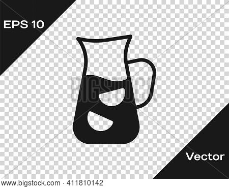 Black Sangria Icon Isolated On Transparent Background. Traditional Spanish Drink. Vector
