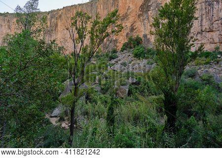 Huge Boulders After A Landslide In The Mountains