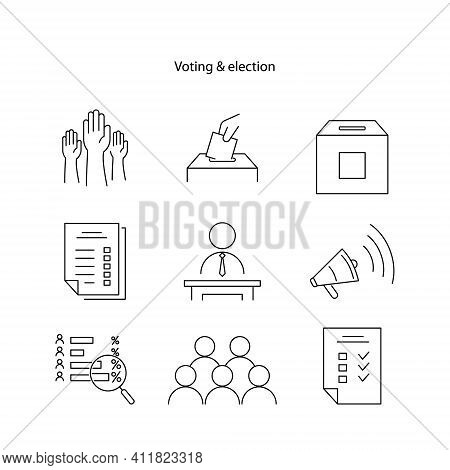 Election And Voting Icon Isolated On White Background From Political Collection. Election And Voting