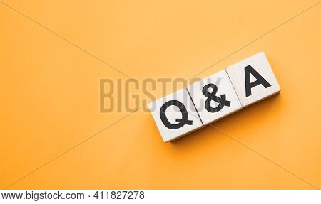 Q And A, Questions And Answers On Wooden Cubes. Concept
