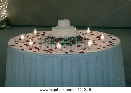 Wedding Cake By Candlelight