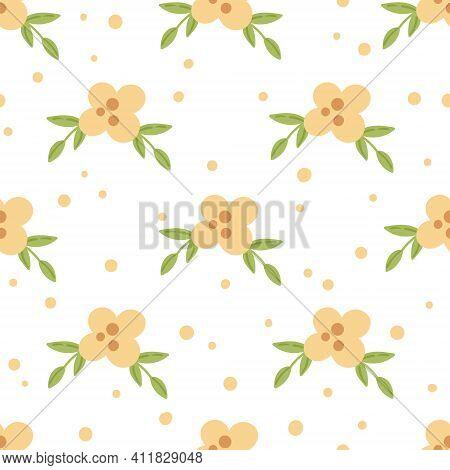 Easter Floral Boho Kids Seamless Pattern, Spring Yellow Flowers Baby Digital Paper, Spring Endless B