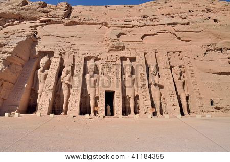 The Small Temple of Abu Simbel, Egypt