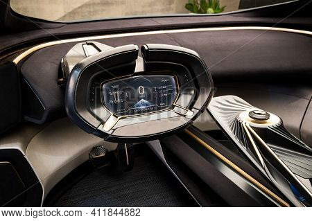 All-electric Autonomous Aston Martin Lagonda All-terrain Concept Car At The 89th Geneva Internationa