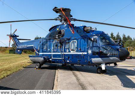 Nordholz, Germany - Jun 14, 2019: German Federal Police (bundespolizei) Eurocopter As332 L Super Pum