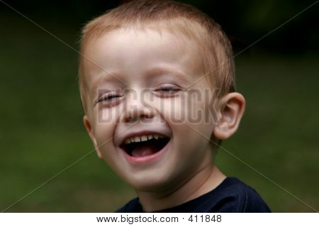 Young Boy Laughing 001