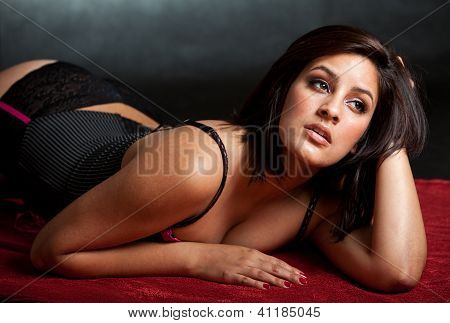 Attractive Sexy Twenties Brunette Hispanic Fashion Woman