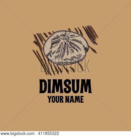 Dimsum Design Logo Vector. Illustration Dimsum Design Logo Restaurant