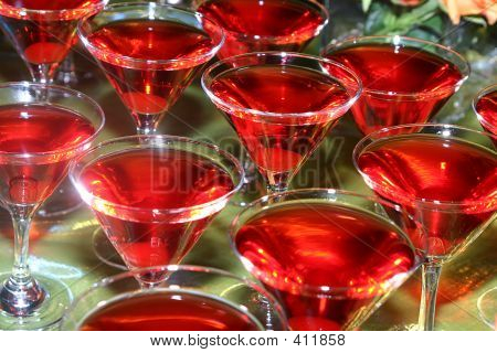 Sherry Filled Glasses