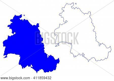 Perugia Province (italy, Italian Republic, Umbria Region) Map Vector Illustration, Scribble Sketch P