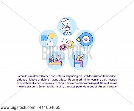 Neurological And Psychiatric Complications Concept Icon With Text. Corona Virus Body Troubles. Ppt P