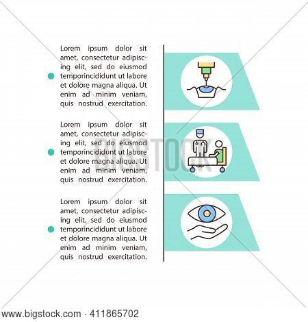 Laser Vision Correction Concept Icon With Text. Refractive Surgery. Cornea And Adjust Lens System. P