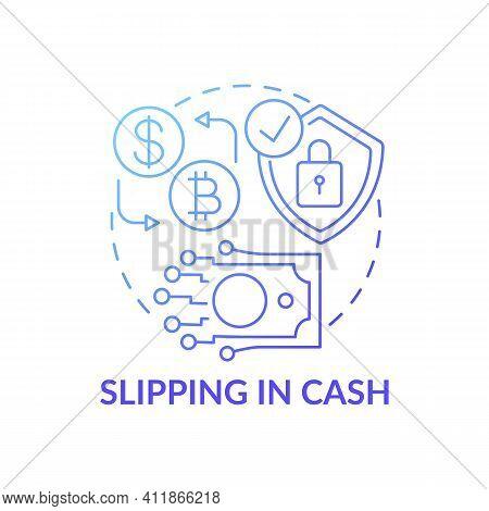 Slipping In Cash Concept Icon. Deposit Slip Idea Thin Line Illustration. Banking Customer. Account N