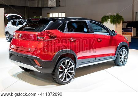 Brussels - Jan 18, 2019: Dr Automobiles Dr3 Car Showcased At The 97th Brussels Motor Show 2019 Autos