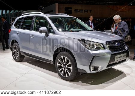New Subaru Forester Suv Car Showcased At The 89th Geneva International Motor Show. Geneva, Switzerla