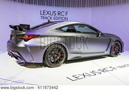 Lexus Rc F Track Edition Car Revealed At The 89th Geneva International Motor Show. Geneva, Switzerla