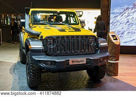 Jeep Wrangler Rubicon 4x4 Carshowcased At The 89th Geneva International Motor Show. Geneva, Switzerl