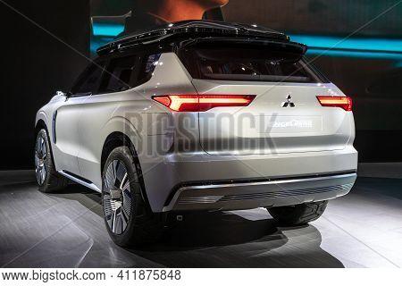 Geneva, Switzerland - March 5, 2019: Mitsubishi Engelberg Tourer Concept Car Debuts At The 89th Gene
