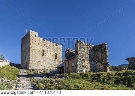 Citadel Vauban In  Seyne Les Alpes In The French Region Provence Des Haut Alpes Under Blue Sky