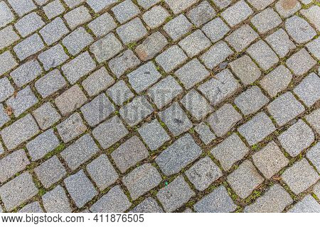 Harmonic Cobble Stone Background With Grey Stones